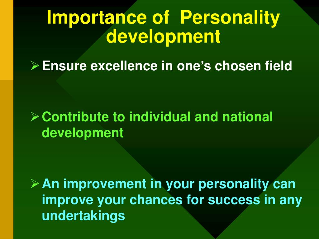 Importance of  Personality development