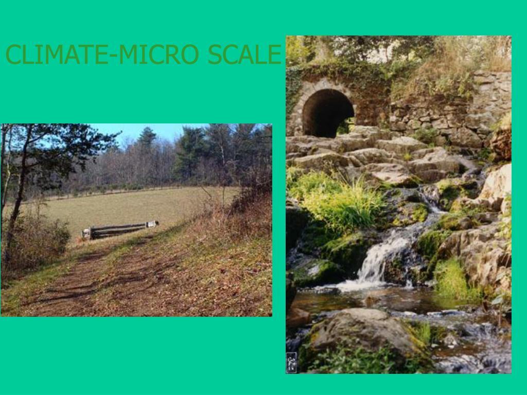 CLIMATE-MICRO SCALE