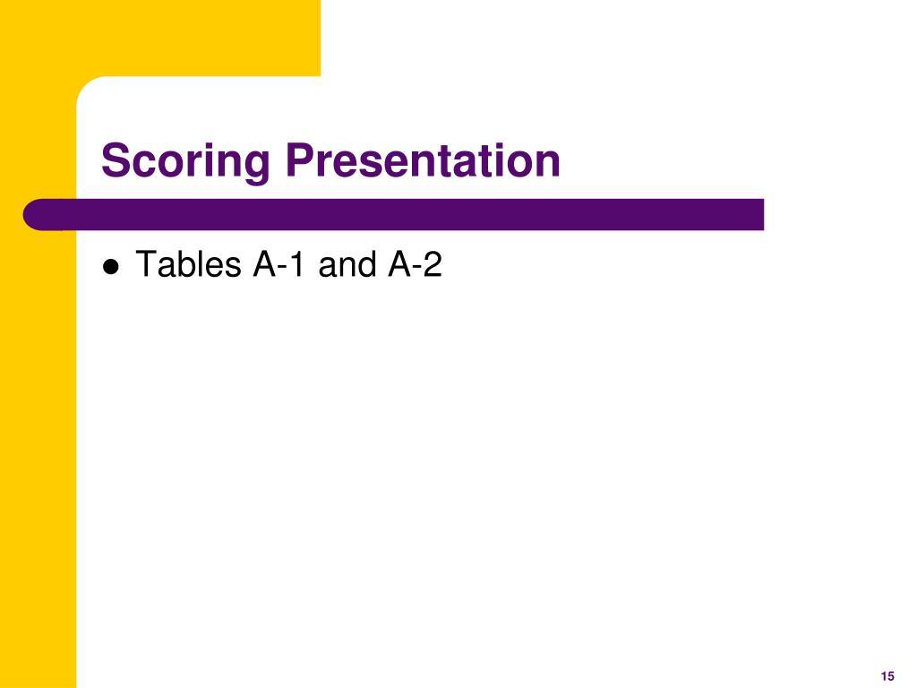 Scoring Presentation
