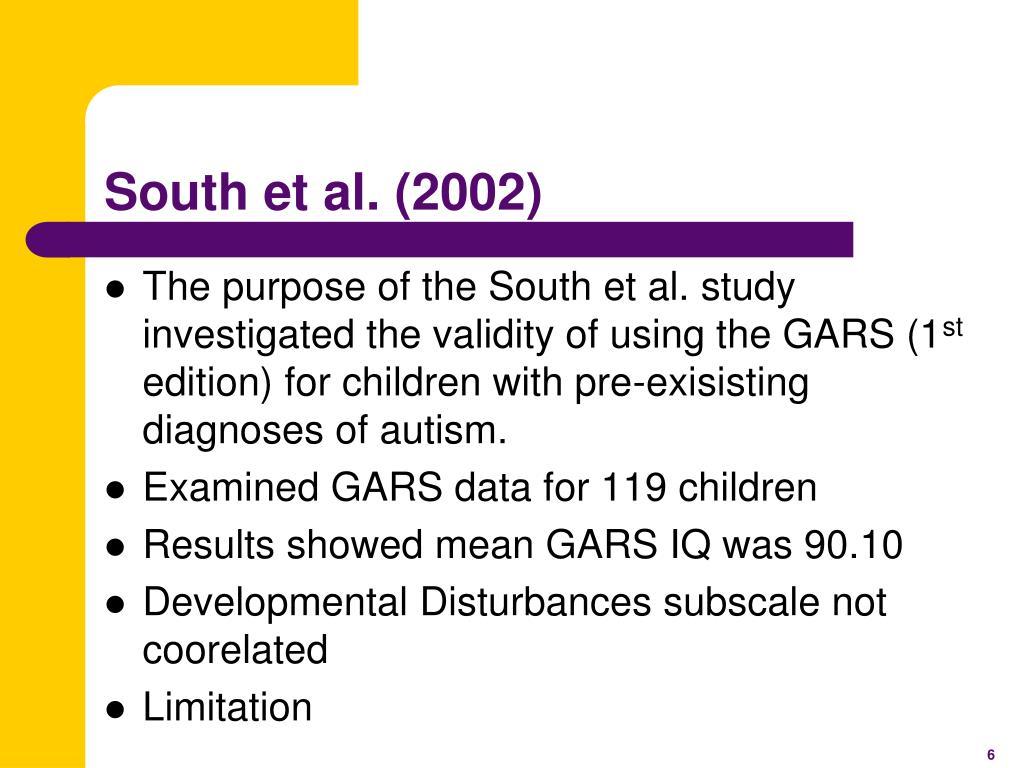 South et al. (2002)