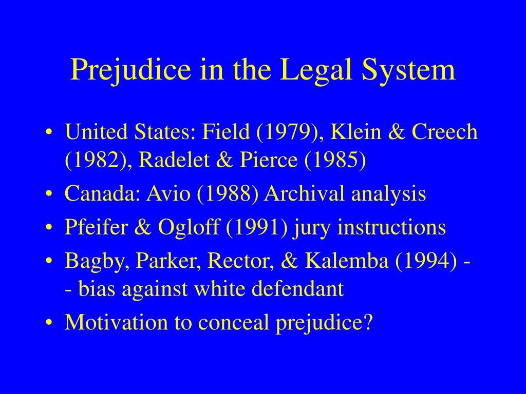 prejudice in canada