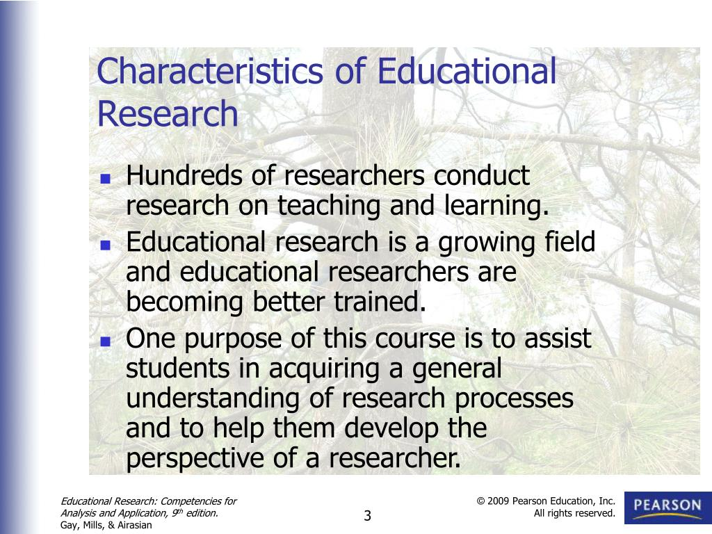characteristics of research methodology Research is a systematic inquiry to describe, explain, predict and control the observed phenomenon research involves inductive and deductive methods (babbie, 1998.