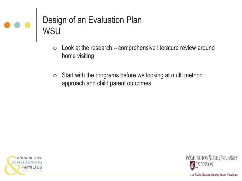 Design of an Evaluation Plan