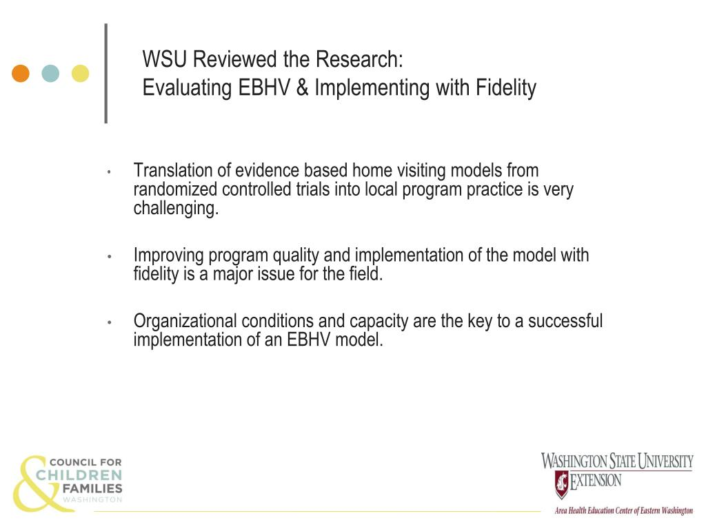 WSU Reviewed the Research: