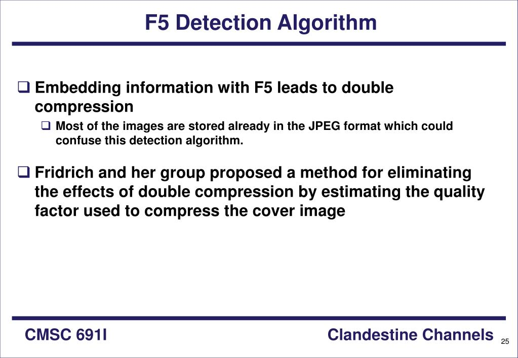 F5 Detection Algorithm