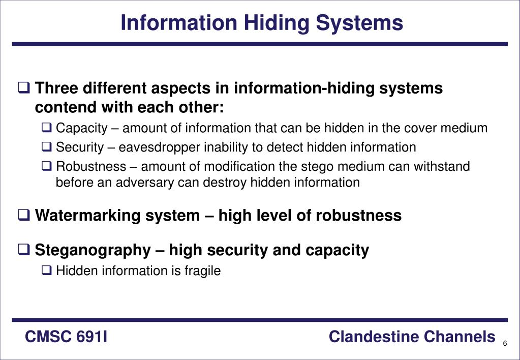 Information Hiding Systems