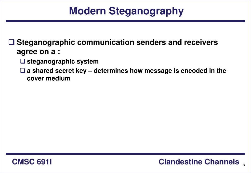 Modern Steganography