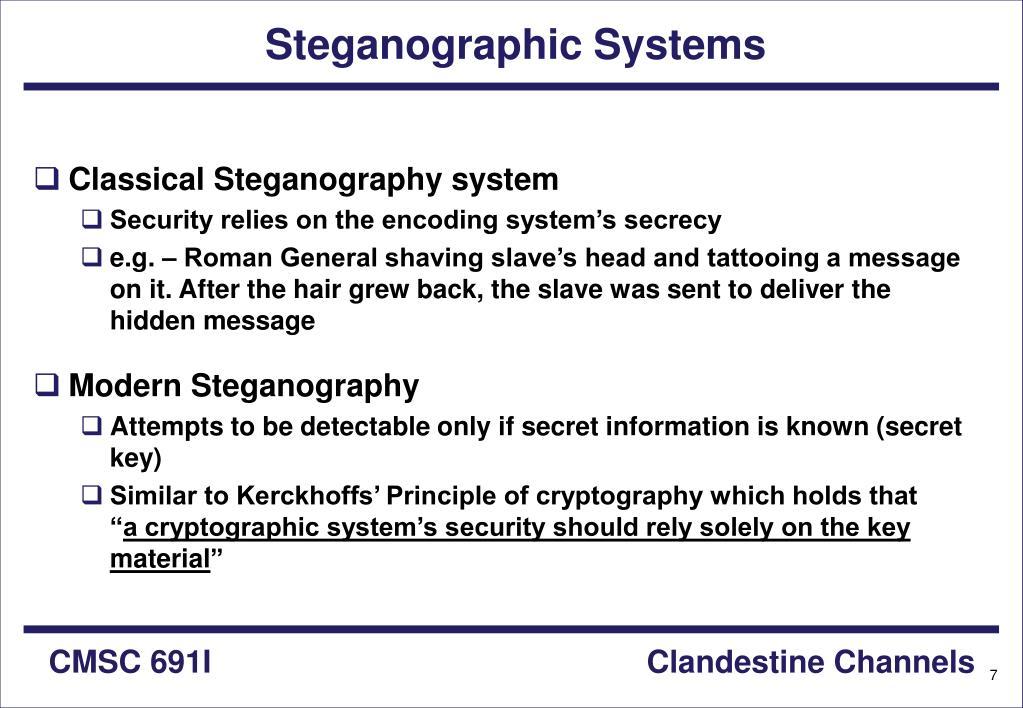 Steganographic Systems