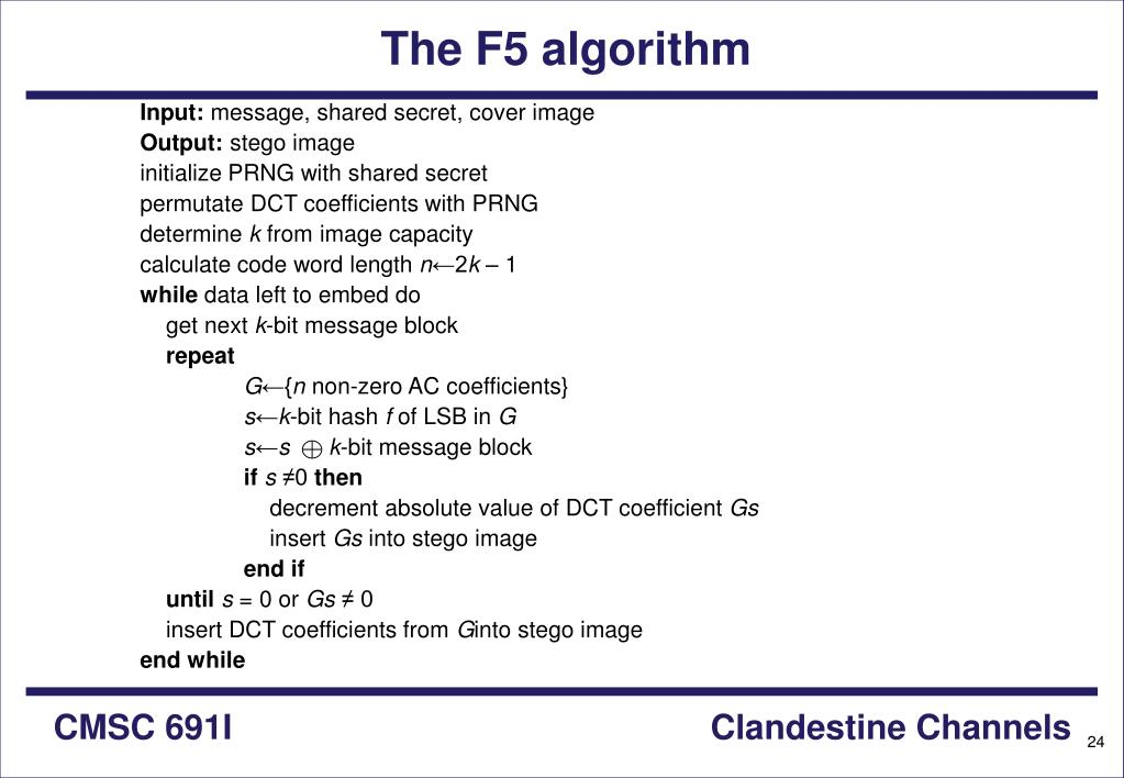The F5 algorithm