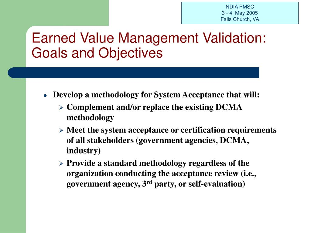 Earned Value Management Validation: