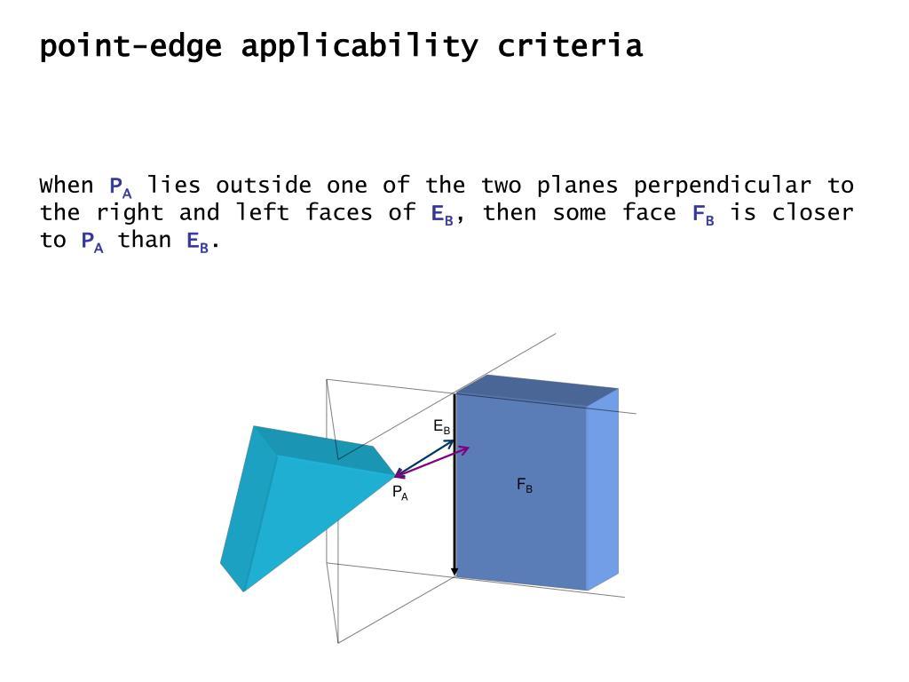 point-edge applicability criteria