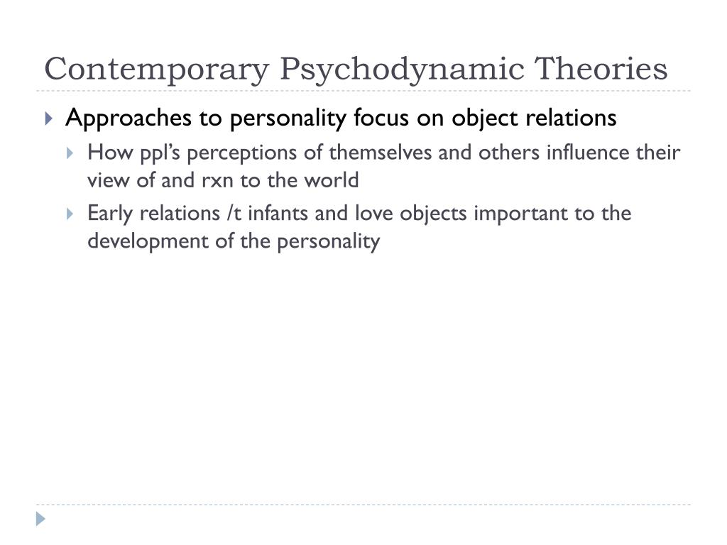 Contemporary Psychodynamic Theories
