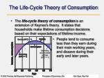 the life cycle theory of consumption