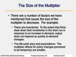 the size of the multiplier2