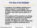 the size of the multiplier3