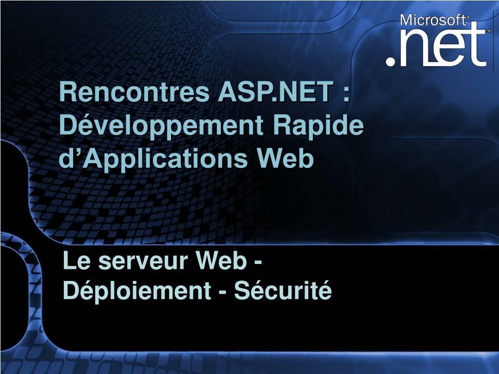 Rencontres ASP.NET :