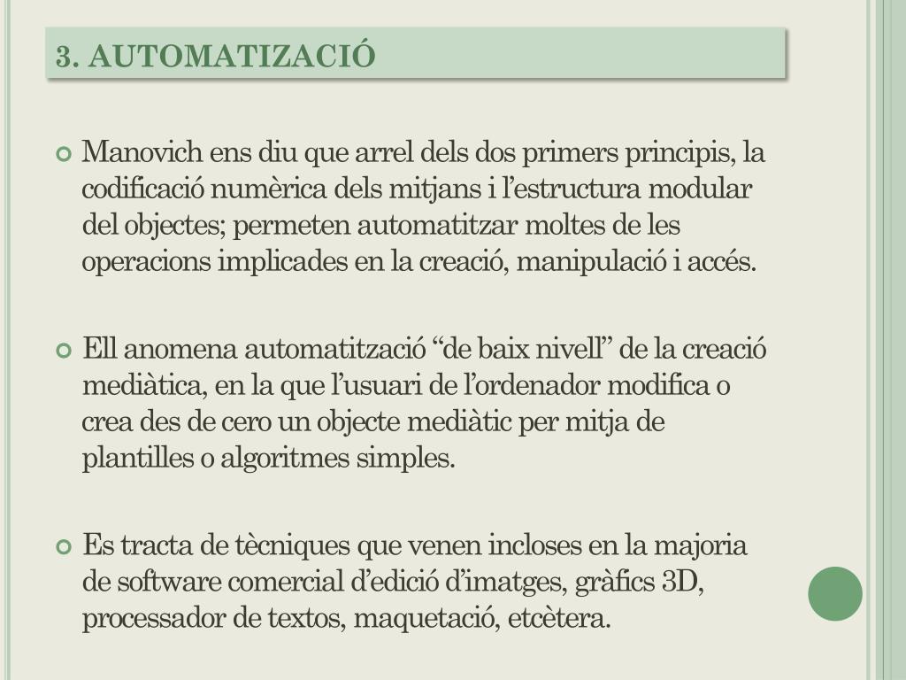 3. AUTOMATIZACIÓ