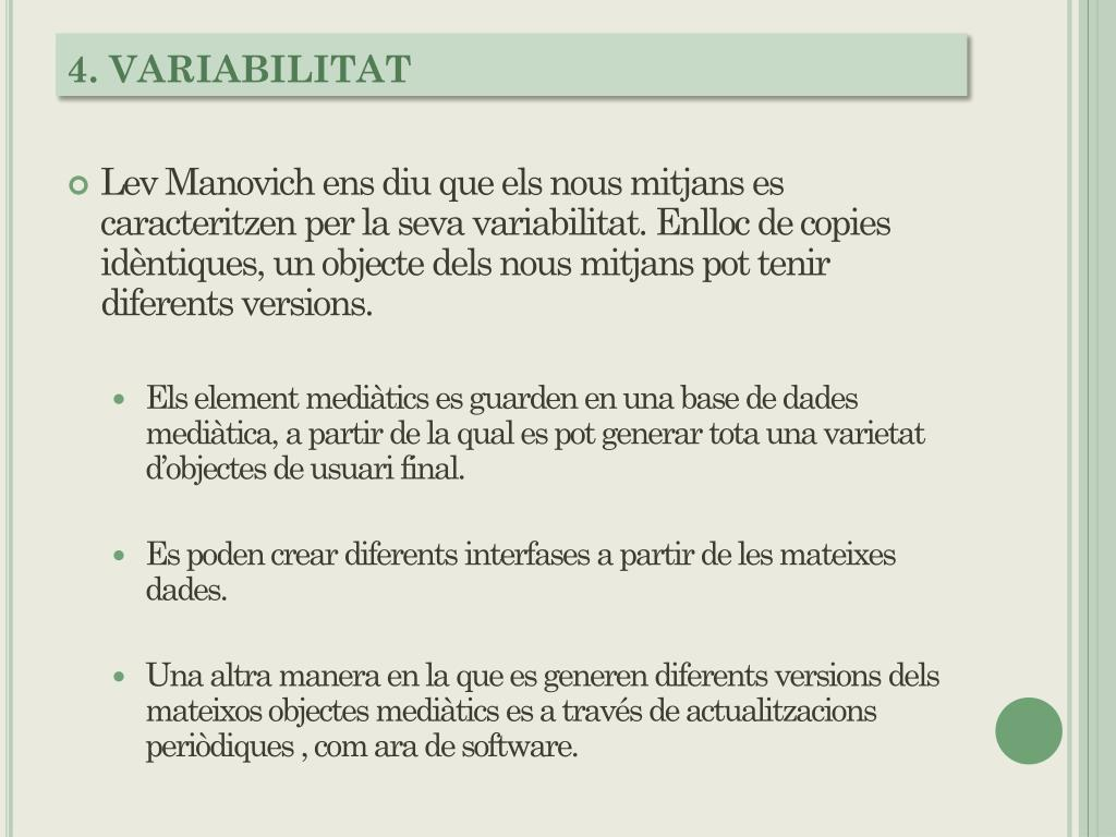 4. VARIABILITAT