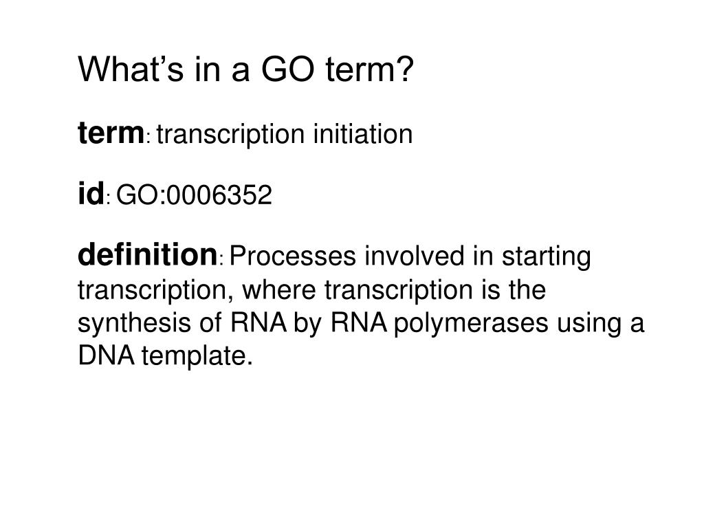 What's in a GO term?