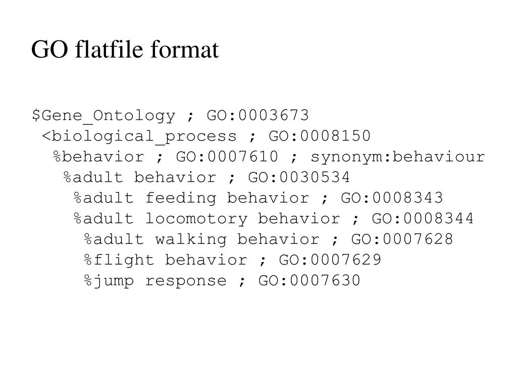 GO flatfile format