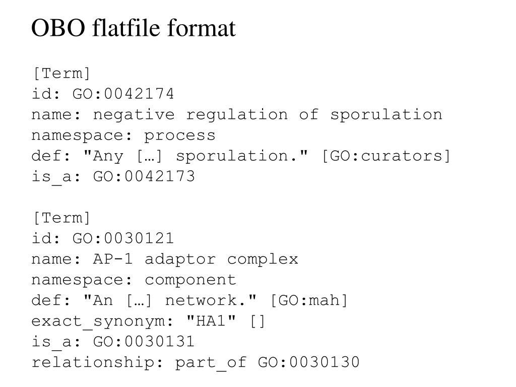 OBO flatfile format