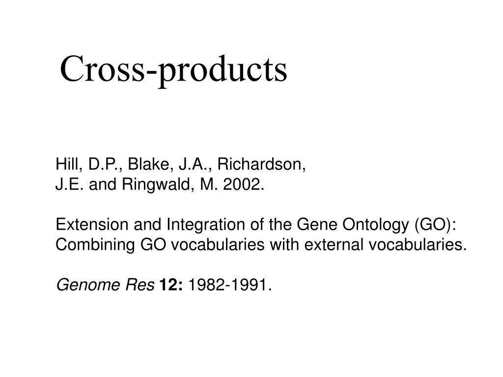Cross-products