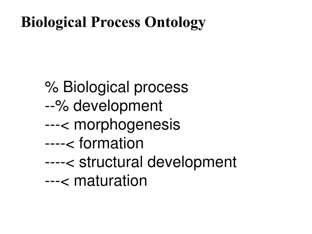 Biological Process Ontology