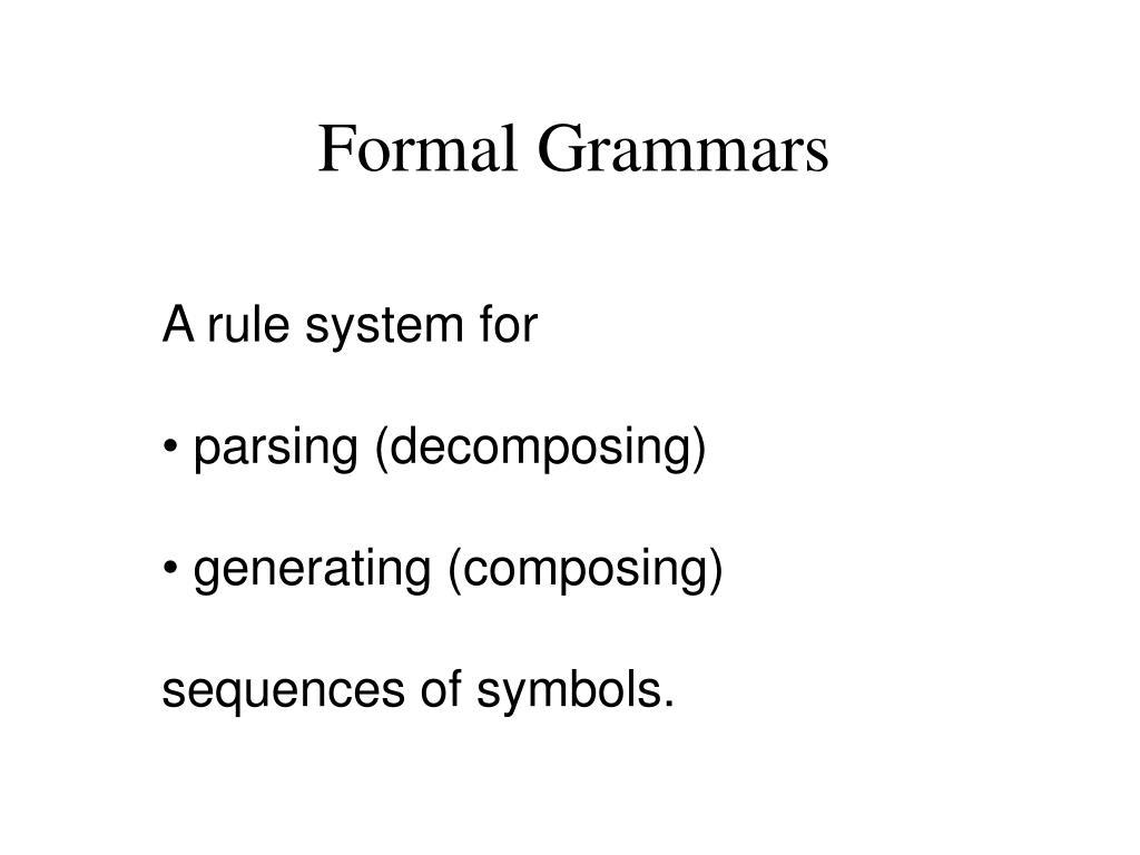 Formal Grammars