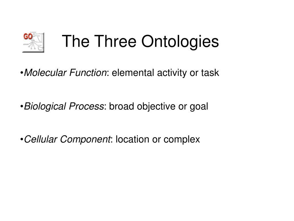 The Three Ontologies