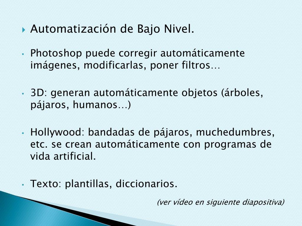 Automatización de Bajo Nivel.