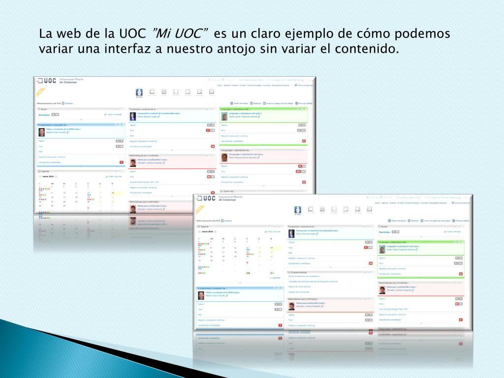 La web de la UOC