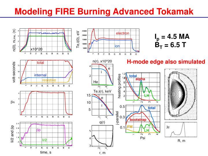 Modeling FIRE Burning Advanced Tokamak