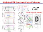 modeling fire burning advanced tokamak1