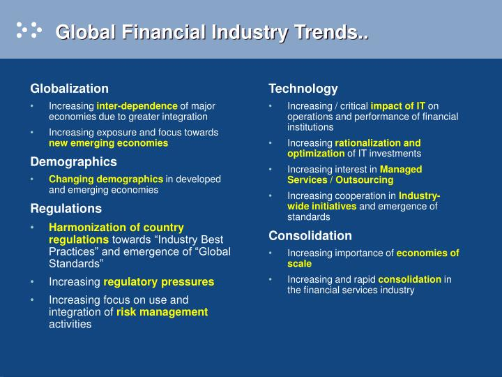 Global financial industry trends