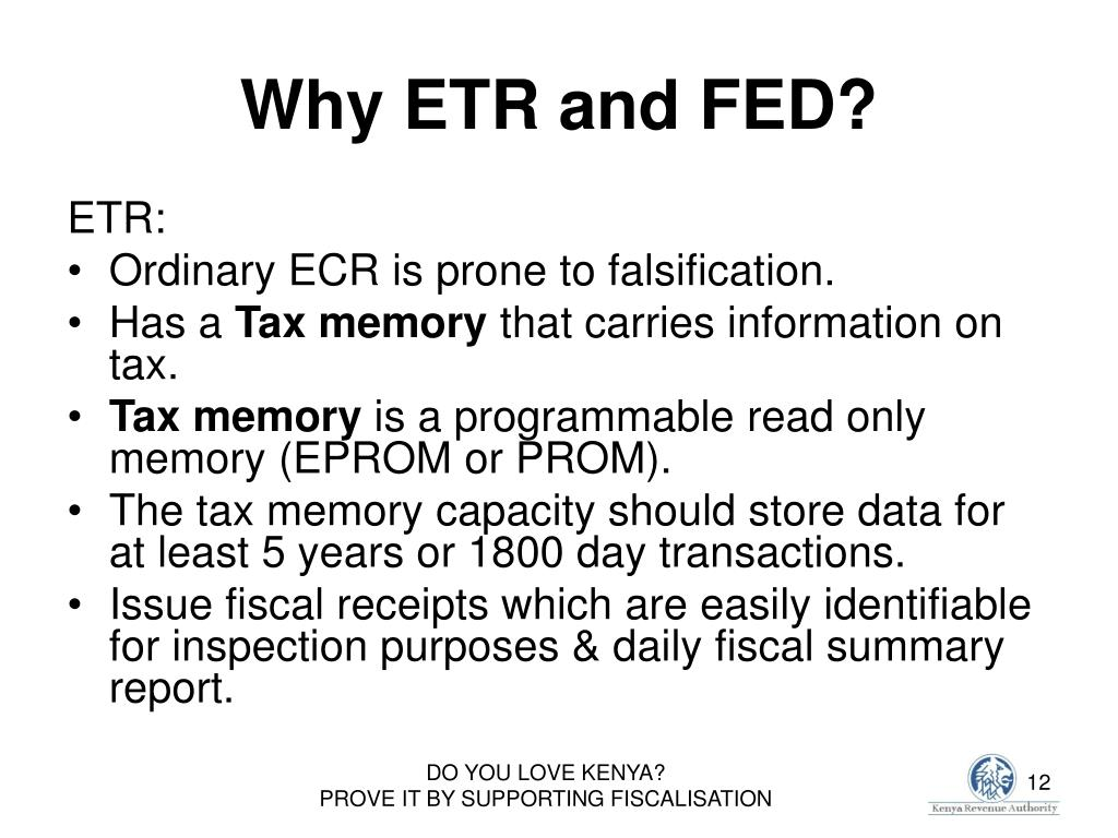 Why ETR and FED?