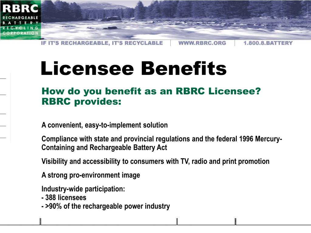 Licensee Benefits