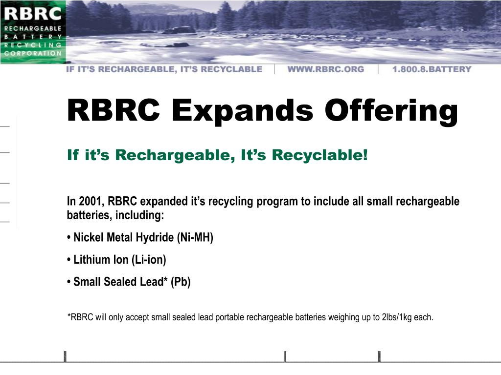 RBRC Expands Offering