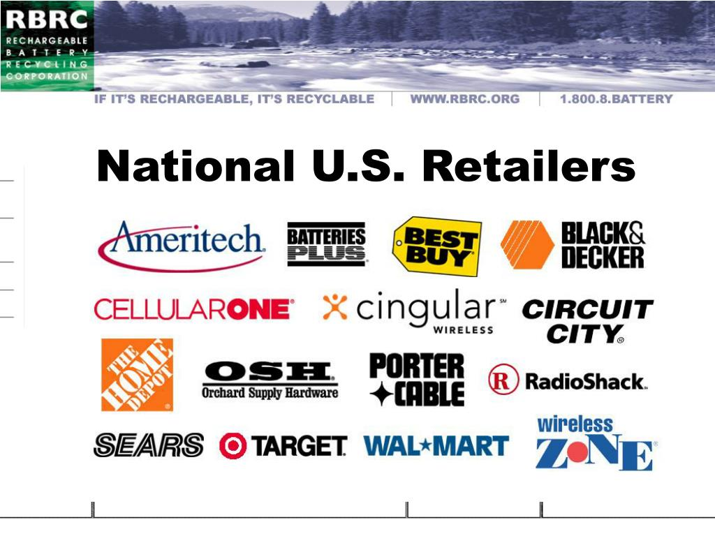 National U.S. Retailers