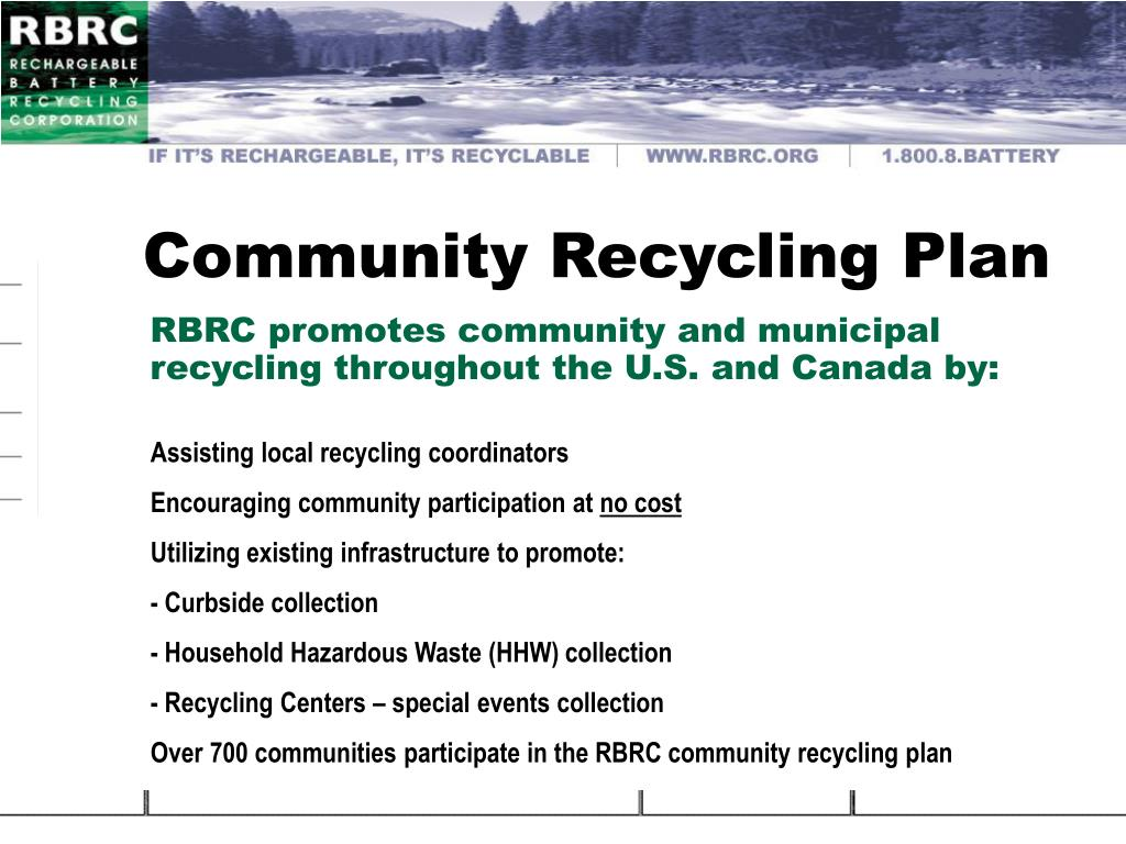 Community Recycling Plan