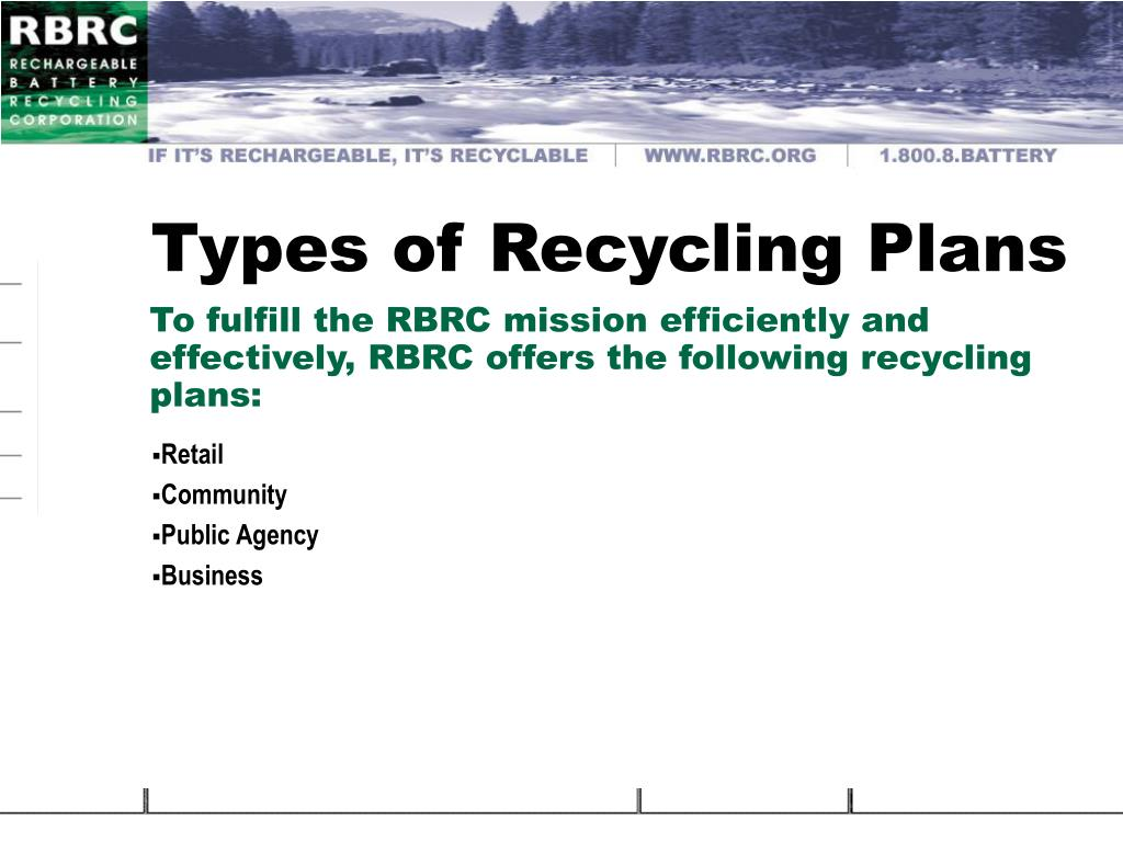 Types of Recycling Plans