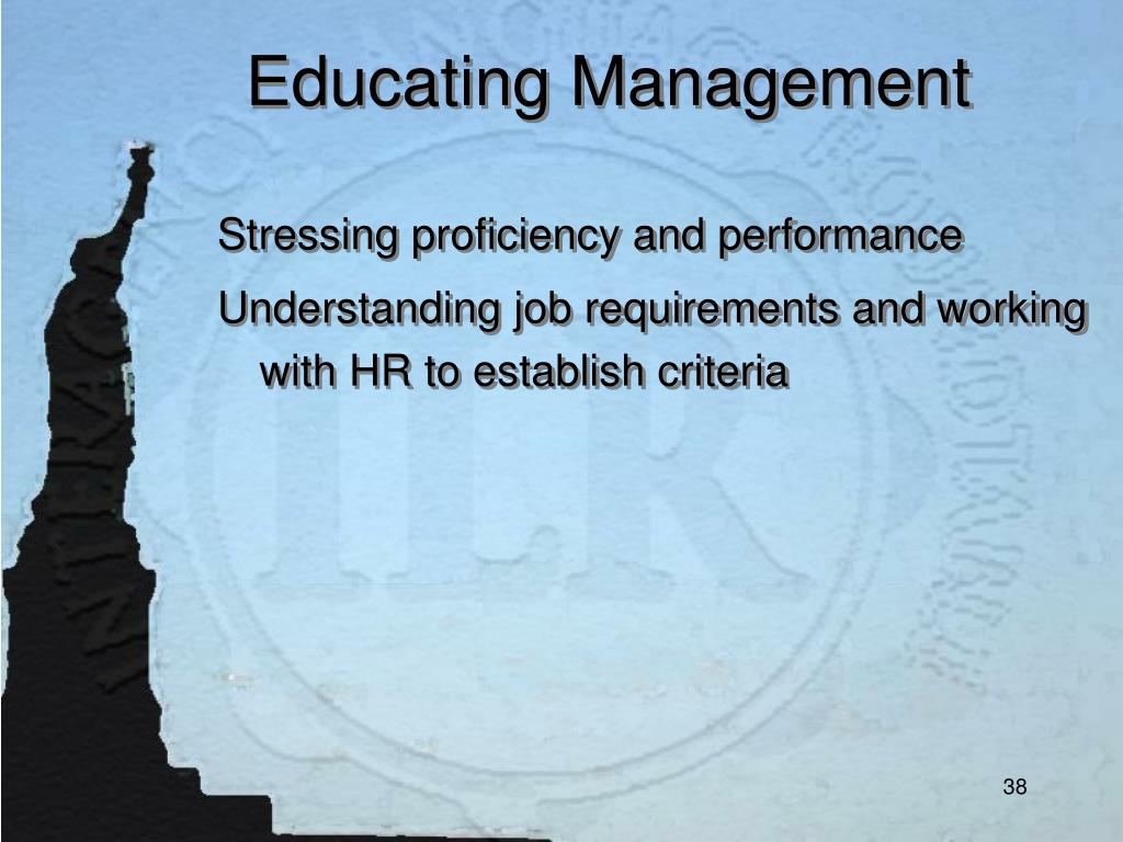 Educating Management