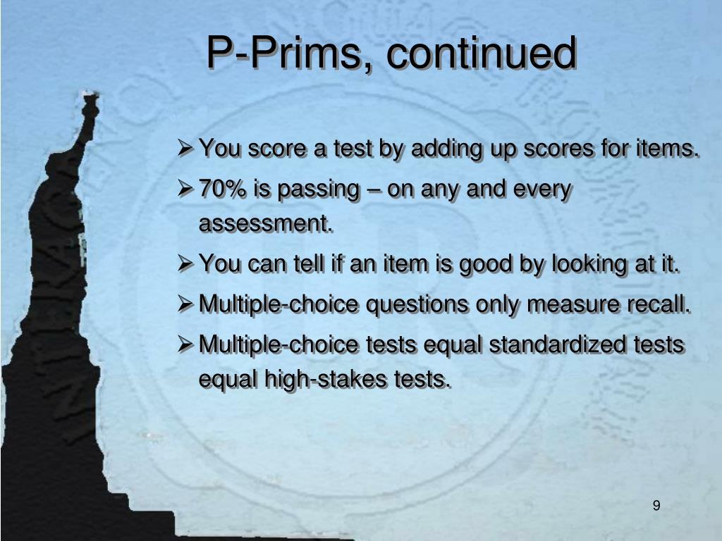 P-Prims, continued