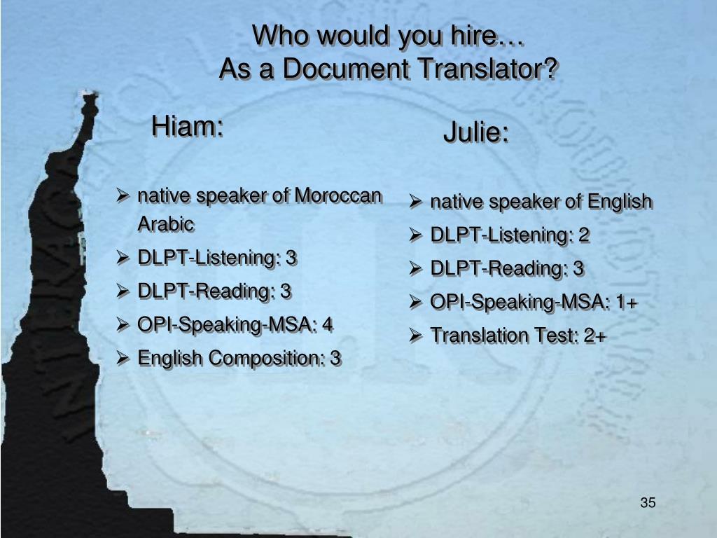 Julie:
