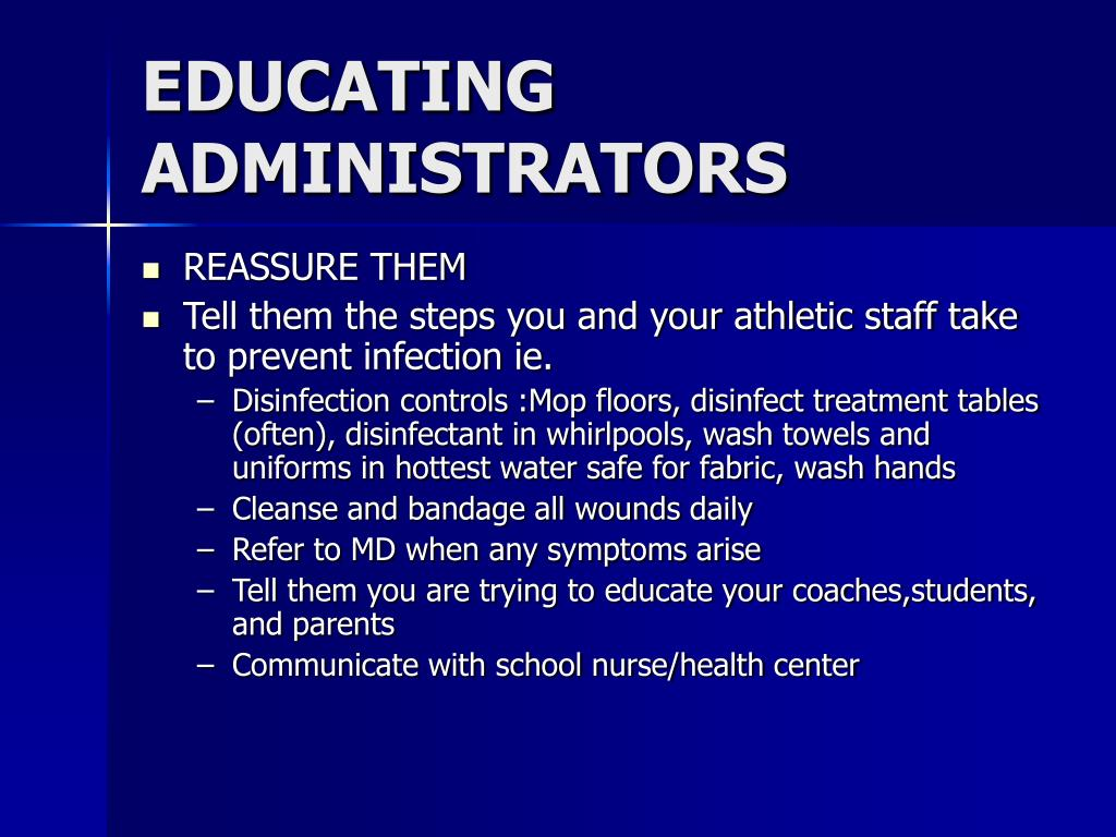 EDUCATING ADMINISTRATORS