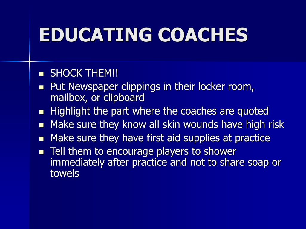EDUCATING COACHES