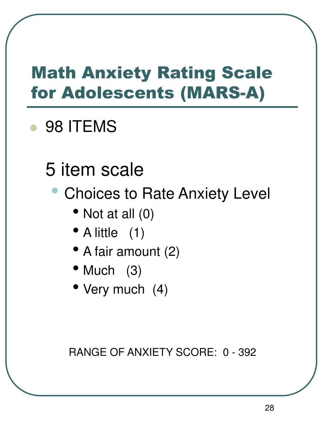 math anxiety Math problems make more than a few students - and even teachers - sweat, but new brain research is providing insights into the earliest causes of the anxiety so often associated with mathematics.