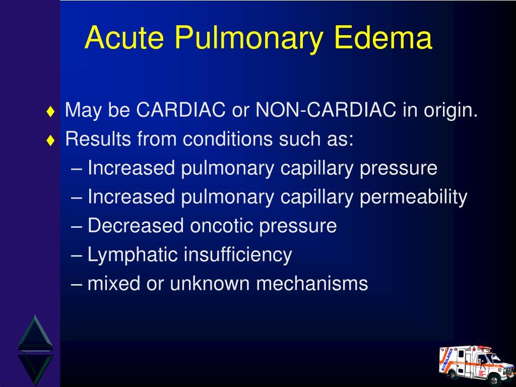 Acute Pulmonary Edema