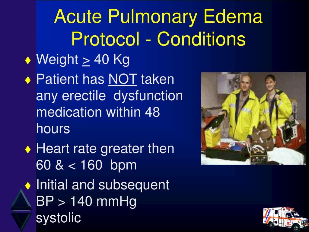 Acute Pulmonary Edema Protocol - Conditions
