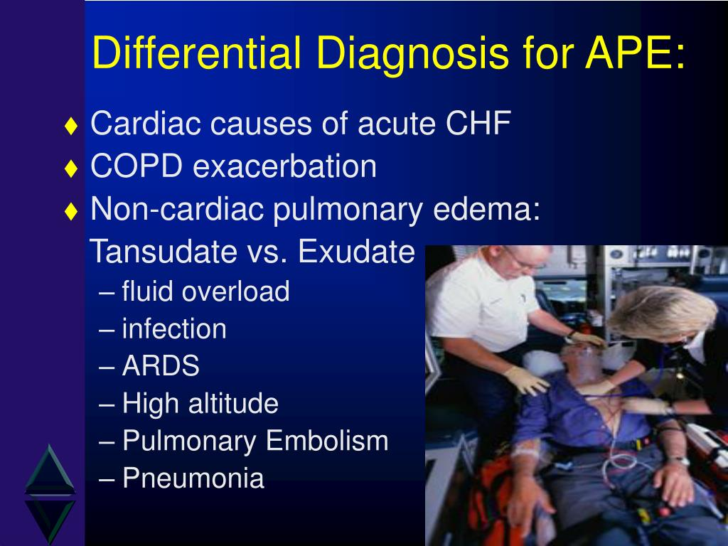 Differential Diagnosis for APE:
