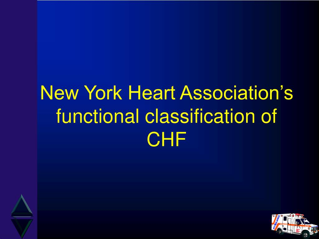 New York Heart Association's functional classification of
